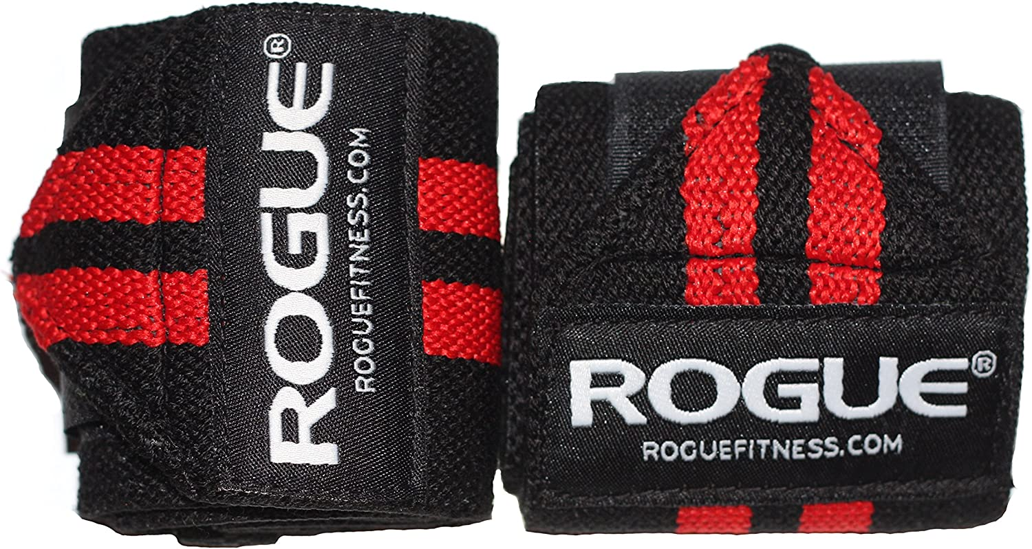 Rogue Fitness Wrist Wraps (Black Red, 12 )