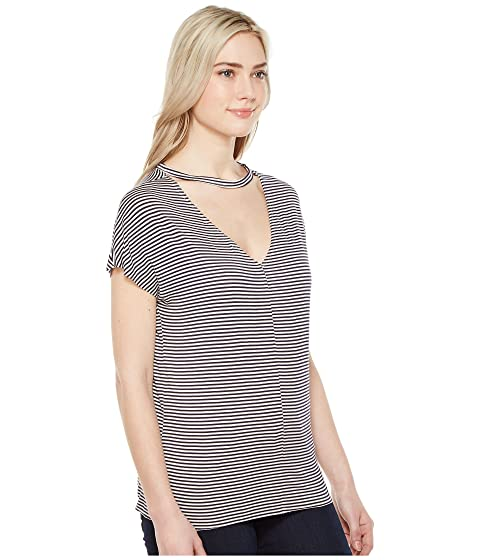 Tee T V Striped Social Back Leigh Project 6w1qYO