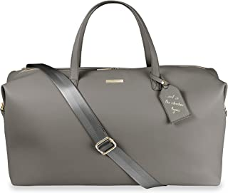 Katie Loxton Holdall Womens Vegan Leather Convertible Strap Top Handle Duffle Bag Charcoal