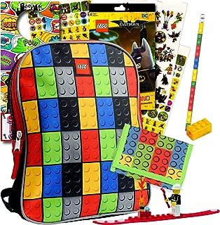 Lego Mini Backpack Set - Bundle Includes Lego Backpack, Wallet, Brickband, and More