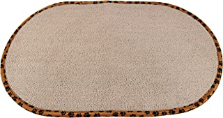 Home-X - Pet Bowl Mat, Highly Absorbent Microfiber Design Reduces Messes by Soaking Up Spills and Drips, Great for Both Ca...