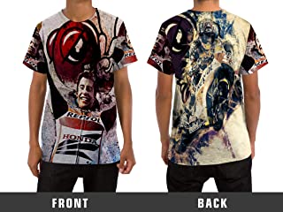 Marc Marquez 93 MottoGp Racer Men's T-Shirt Custom Full Print Sublimation Style 2