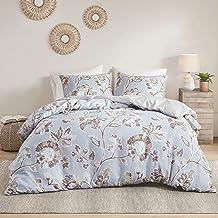 Intelligent Design Reversible 100% Cotton Sateen Duvet - Breathable Comforter Cover, Modern All Season Bedding Set with Sh...
