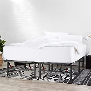 """Best Amazon Basics Foldable, 14"""" Metal Platform Bed Frame with Tool-Free Assembly, No Box Spring Needed - Twin Reviews"""