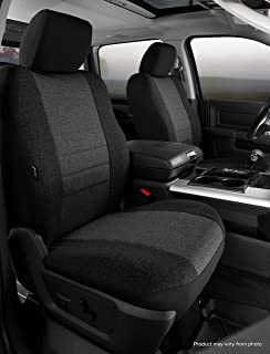 Fia OE37-34 CHARC Custom Fit Front Seat Cover Bucket Seats - Tweed, (Charcoal)