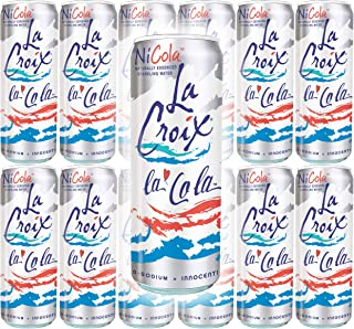 La Croix La Cola Naturally Essenced Flavored Sparkling Water, 12oz Can (Pack of 12, Total of 144 Oz)
