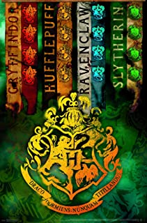 Trends International The Wizarding World House Harry Potter - Crests Wall Poster, 22.375