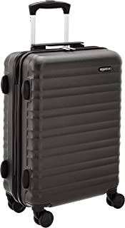 Amazon Basics Bagage à roulettes rigide- 55 cm Taille cabine, Noir Approuvé pour Ryanair et la plupart des compagnies low ...