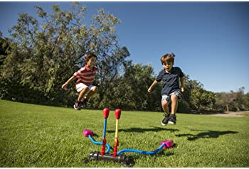 Stomp Rocket Dueling Rockets, 4 Rockets and Rocket Launcher - Outdoor Rocket Toy Gift for Boys and Girls Ages 6 Years...