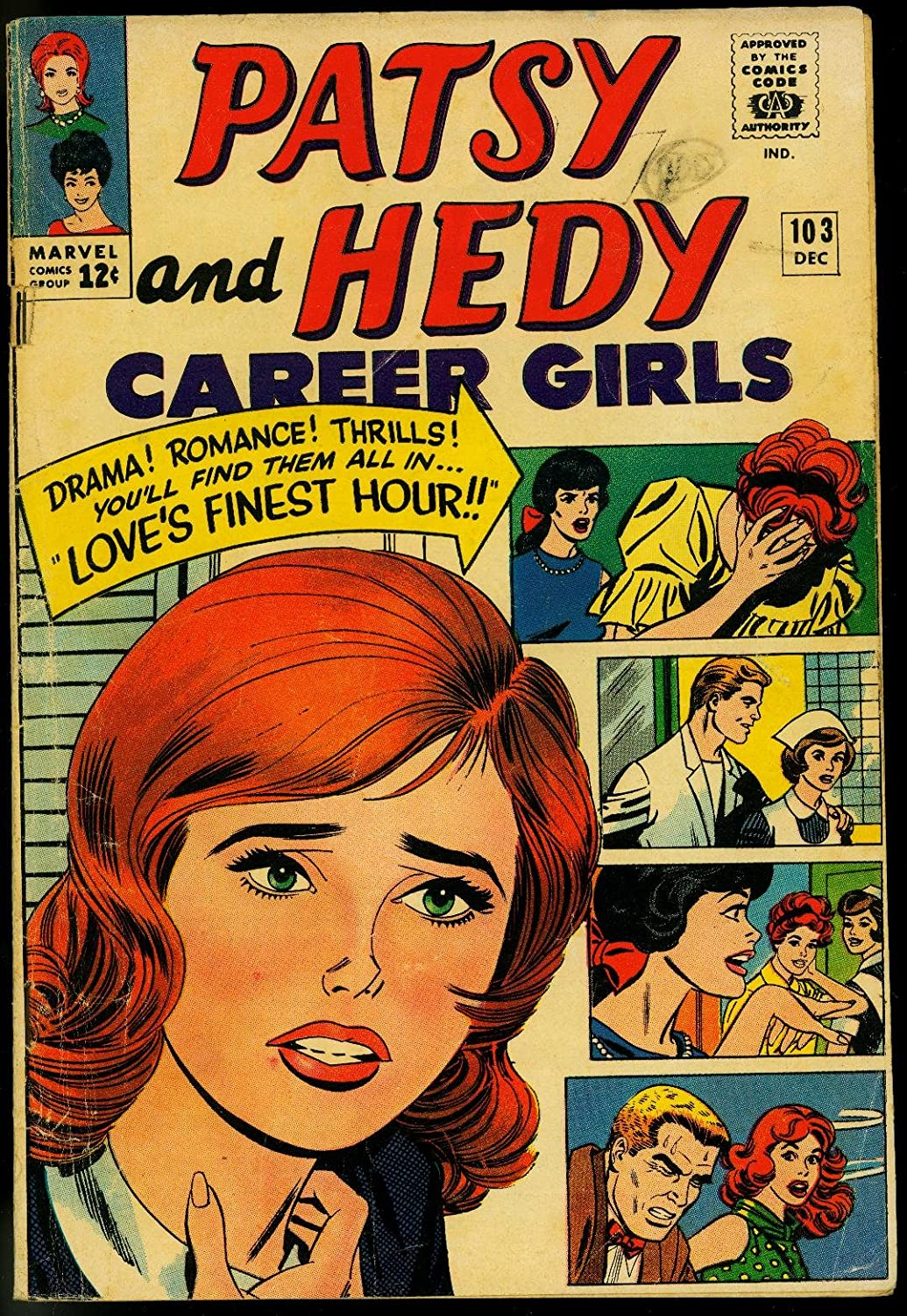 PATSY AND HEDY #103 PAPER DOLLS FASHIONS 1965 MARVEL VG
