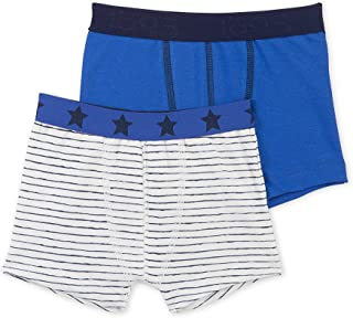 Boys' 2 Pack Solid and Striped Boxers