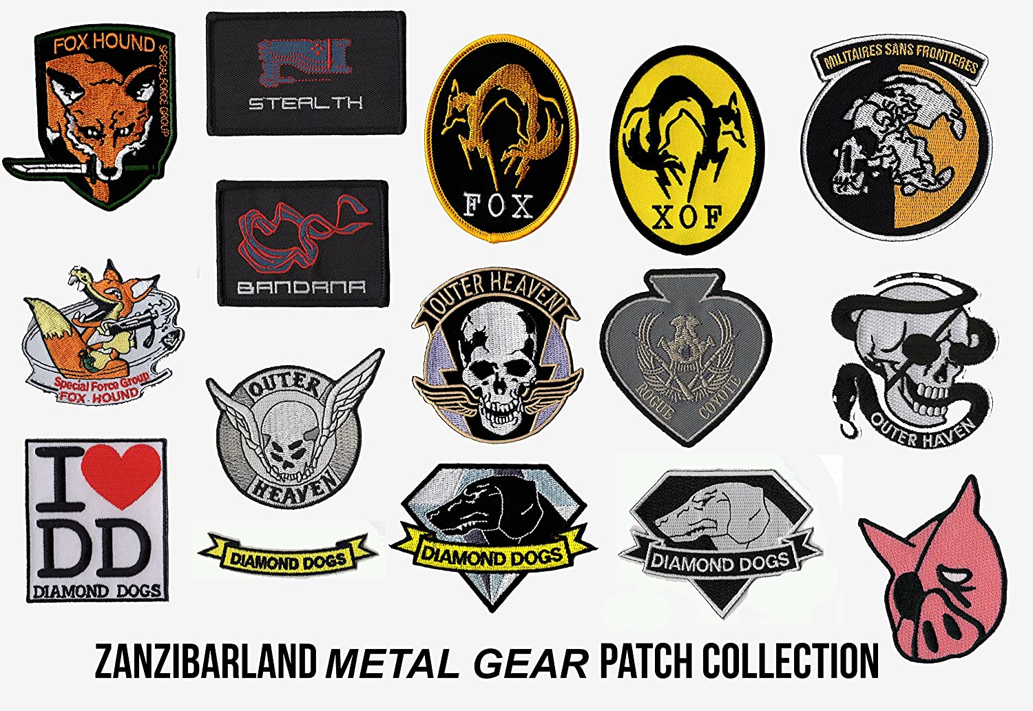 ZanzibarLand Metal Gear Solid Iron Patch Popular product 5 popular Collection on