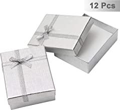 Kurtzy 12 Pack Gift Boxes - Presentation Box with Velvet Insert - 8.5 x 6.5 x 2.5cm - Birthday Gift Box - Ring Box Earring Box Necklace Box - Cardboard Jewellery Boxes