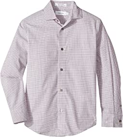 Calvin Klein Kids - Check Stretch Long Sleeve Shirt (Big Kids)