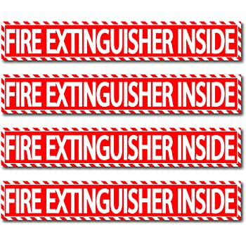 FIRE EXTINGUISHER SIGN /& STICKER *ALL SIZES* *CHEAP* *FREE P+P*