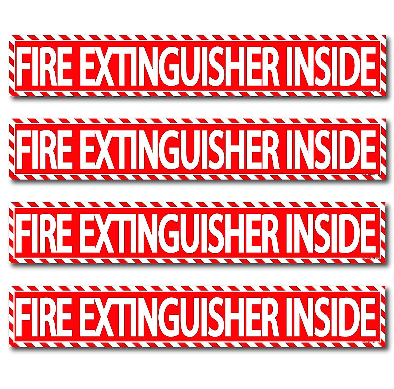 Fire Extinguisher Inside Sticker Columbus Mall 4 Pack 1.5