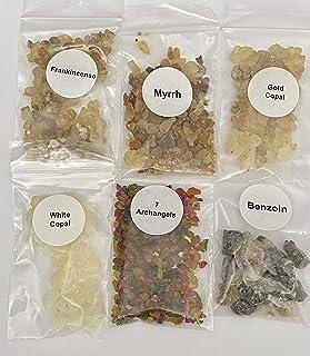 The Better Scents Resin Incense Variety Sampler Set- 1/4 oz Bags of Frankincense- Myrrh- 7 Archangels- Gold Copal- White C...