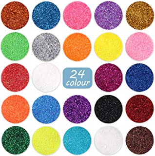 Sponsored Ad - Fine Glitter 24 Colors Craft Glitter for Resin Makeup for Body Nail Face Hair Eyeshadow Lip Gloss Making