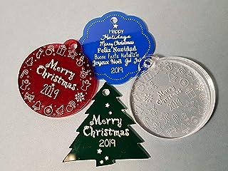 Set 4+ decorazioni in plexiglass per natale