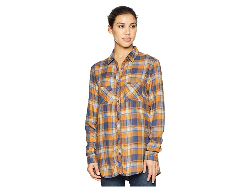 Columbia Always Adventuretm Long Sleeve Shirt (Canyon Gold Plaid) Women