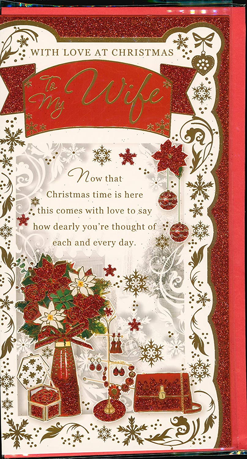 Granddaughter Choice of Beautiful Designs. Christmas Card to Female Relative