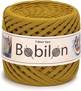 T-Shirt Yarn Fettuccini Zpagetti Style - Tshirt Yarn for Crocheting - Ribbon Yarn 100% Cotton - Knitting Yarn Ball - T Yarn Organic - Macrame T-Yarn - Thick Fabric Yarn - Jersey Yarn Golden Lime