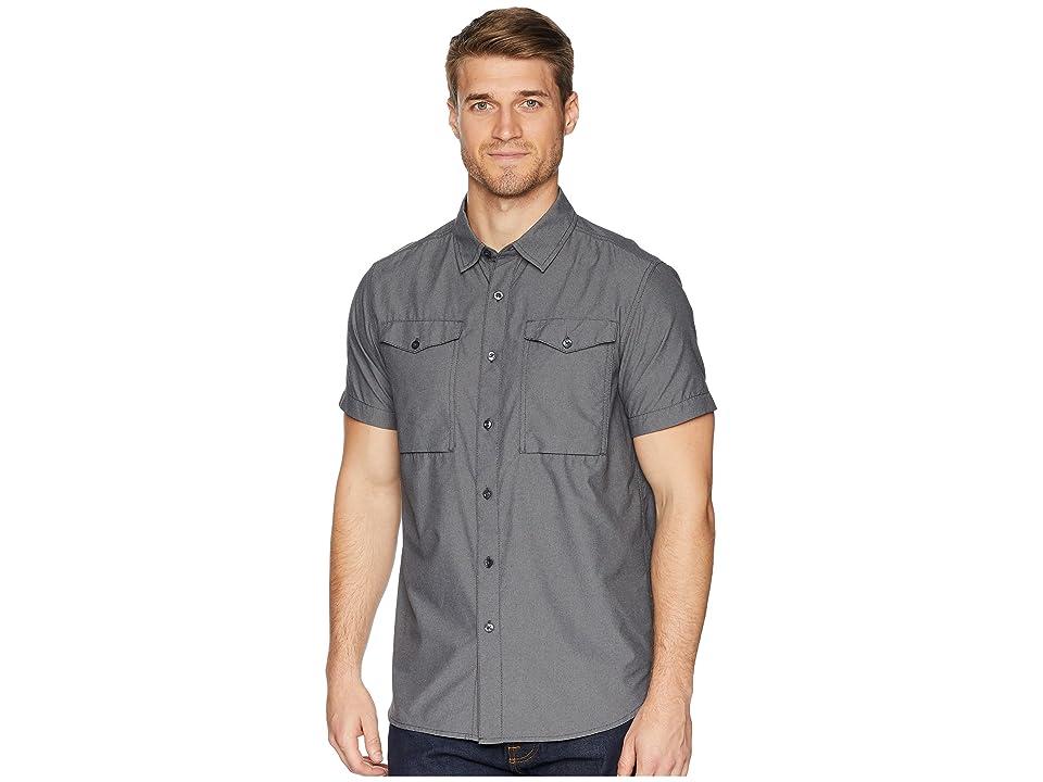 The North Face Short Sleeve Monanock Utility Shirt (Weathered Black) Men