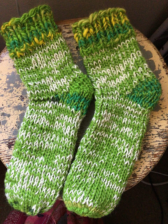 Hand spun hand knit 100% wool boot lin socks slipper Max 43% OFF Mesa Mall clog