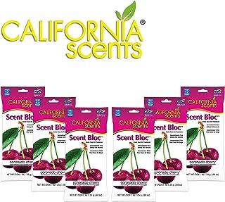 California Scents Power Bloc Car Air Freshener, Coronado Cherry Fresh & Bold Fragrance, 0.88 Oz (Pack of 6) - Packaging May Vary