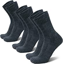 Merino Wool Light Hiking Socks for Men, Women & Kids, Lightweight, Trekking, Outdoor, Cushioned, Breathable, 3 Pack