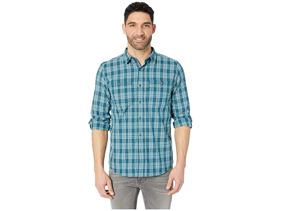 Royal Robbins Vista Dry Plaid Long Sleeve Shirt (Turkish Tile) Men