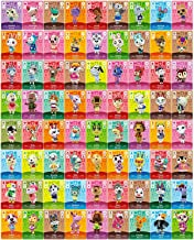 Animal Crossing New Horizons NFC Tag Mini Game Rare Character Villagers (Could be Invited) Home Good Designer Cards 72pcs for Switch/Switch Lite/Wii U/New 3DS with Crystal Storage Box