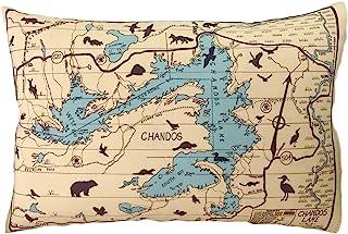 Chandos Lake Vintage Map Pillow