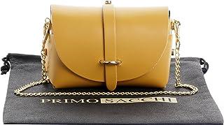 051992d93f Primo Sacchi Sac de soirée bandoulière en cuir italien Mini petit  épaulement Micro avec bracelet chaîne