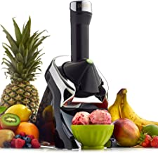 Yonanas 987 Elite Powerful Quiet Healthy Dessert Fruit Soft Serve Maker Includes 130 Recipe Book Creates Fast Easy Delicious Dairy Free Vegan Alternatives to Ice Cream or Frozen Yogurt BPA Free, Black