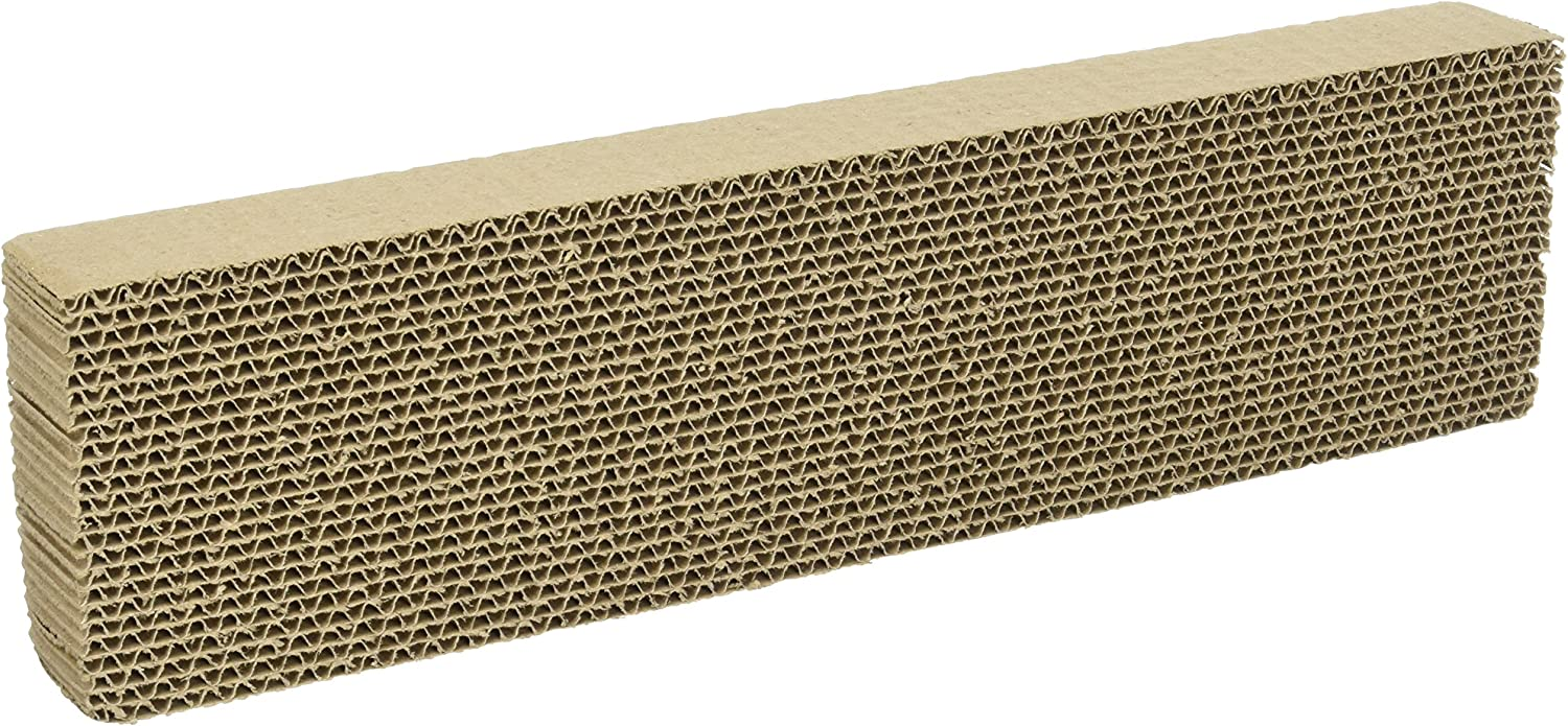WARE Single Wide Corrugated Replacement Scratcher Pads for Cats (2-pack) - Catnip Included : Box Mailers : Pet Supplies
