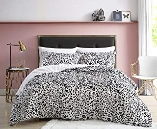 Betsey Johnson | Water Leopard Collection | Comforter Set - Cool & Lightweight, White, Full/Queen