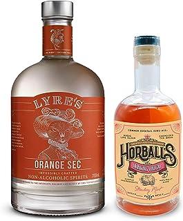 Pink Lady (Lyre's Orange Sec Non-Alcoholic Spirit – Triple Sec Style 23.7 Fl Oz & Horball's Strawberry Mint...