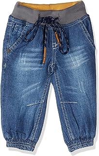 Giggles Side Pocket Elastic Drawstring Waist Denim Pants for Boys 12-18 Months