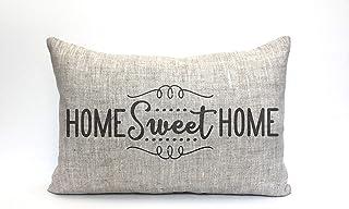 Tamengi Home Sweet Home - Funda de almohada, funda de almohada, funda de almohada con palabras, funda de almohada, funda d...