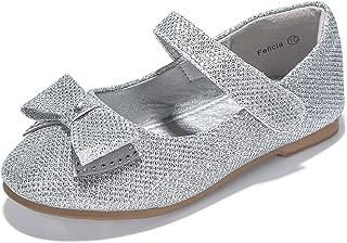 PANDANINJIA Toddler/Little Kids Girl Ballet Flats Princess Ballet Flower Mary Jane Girls Flat Dress Shoes