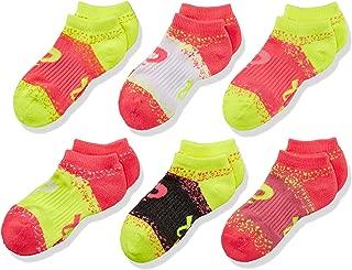 ASICS Youth Splatter No Show Yellow Ribbon Socks