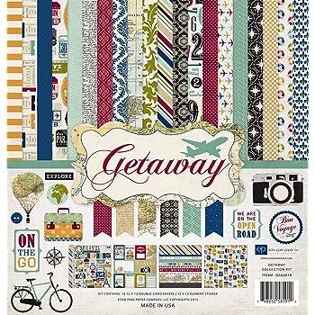 Amazon Com Echo Park Paper Company Ga63016 Getaway Collection Scrapbooking Kit