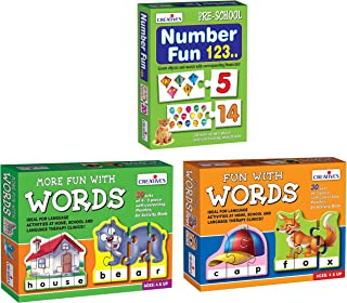 Creative Educational Aids P. Ltd. More Fun with Words Puzzle (Multi-Color) & Fun with Words Puzzle (Multi-Color, 90 Pieces...
