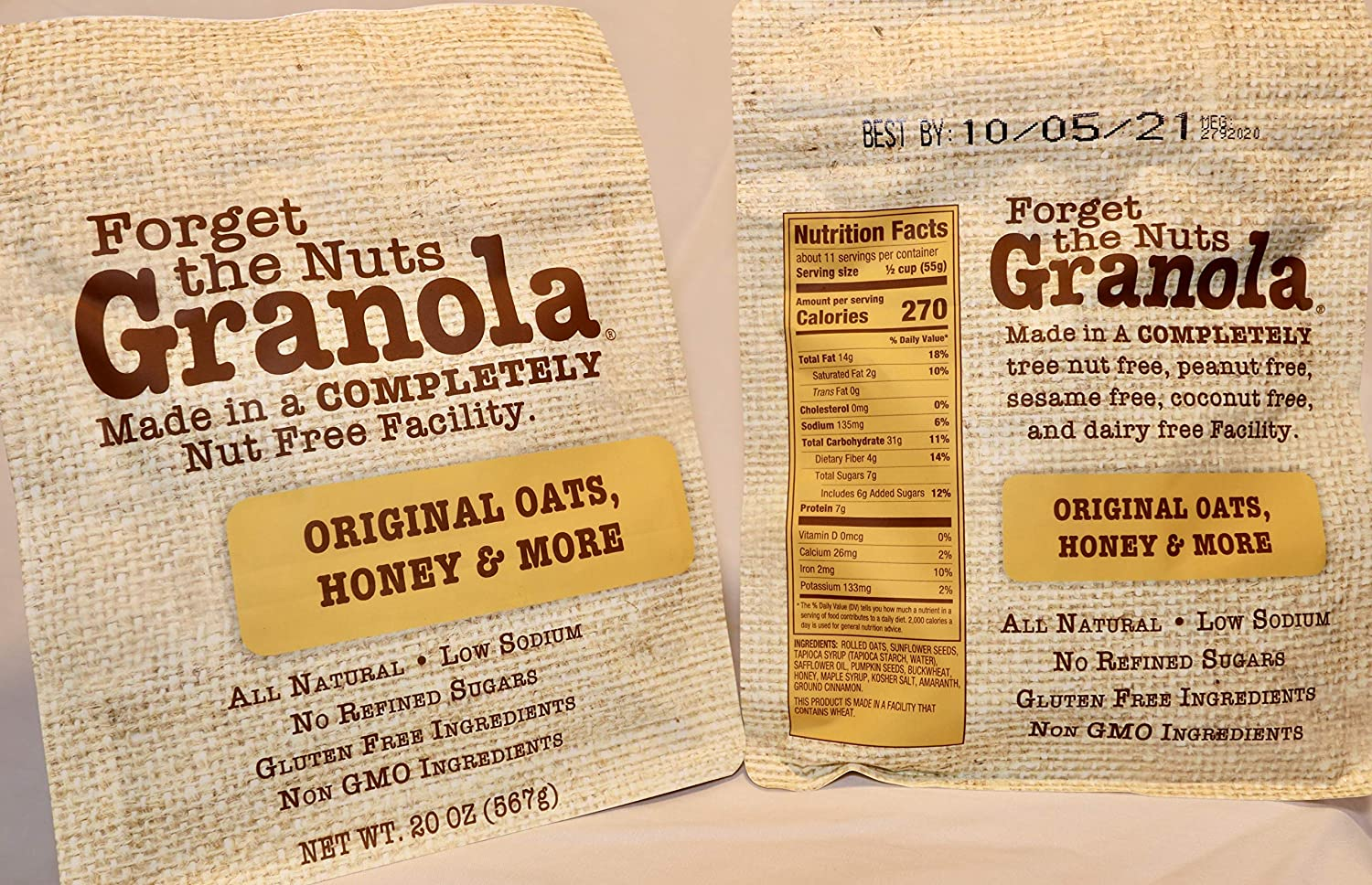 Forget the Nuts Granola Original ounce Oats More Ranking TOP8 Cheap SALE Start 40 Honey