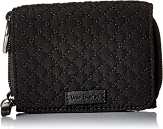 Vera Bradley Women's Microfiber Card Case Wallet with RFID Protection