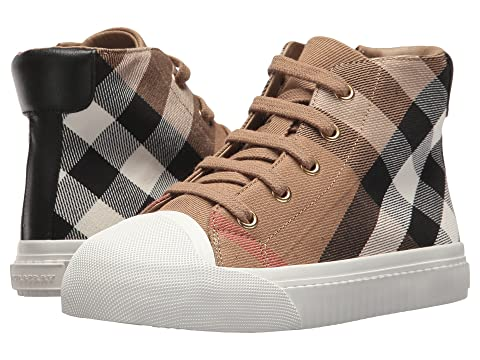 Burberry Kids Belford Check Trainer (Toddler/little Kid)