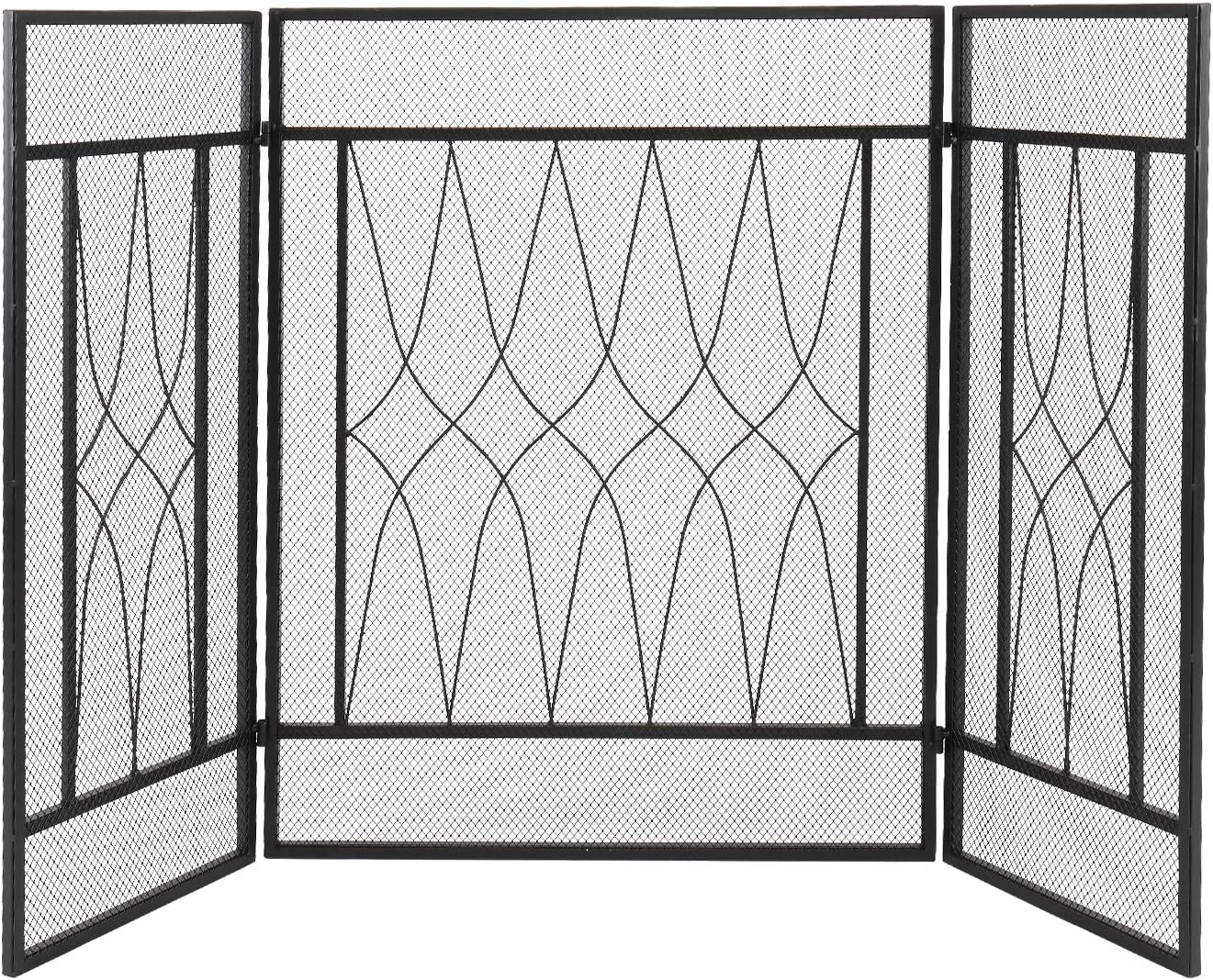 Veryke Iron sale Mesh Fireplace Screen Max 53% OFF Spark Panels Guard 3