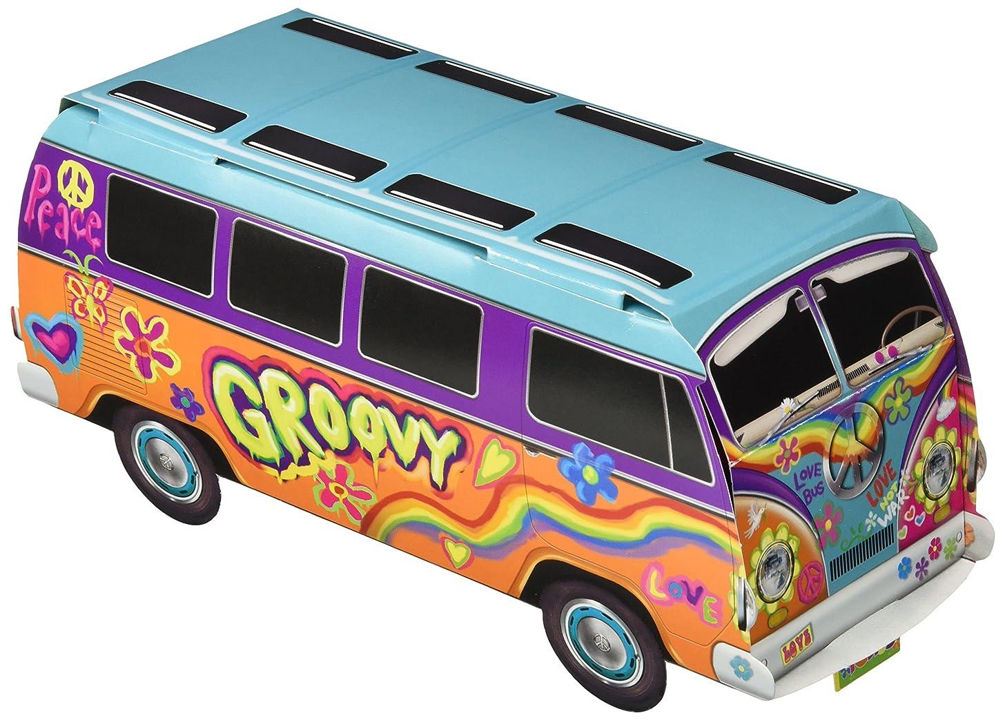"Beistle 57326 3-D 60's Bus Centerpiece, 9.75"", Multicolored"