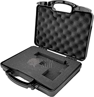 Cedar Mill Fine Firearms Pick and Pluck Foam Hard Lockable CUSTOM Pistol Gun Case to Carrying 9mm Handguns & Revolvers Airline TSA Flight Travel Safe non Waterproof case for guns, accessories +storage